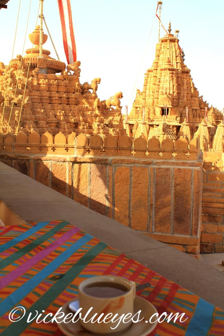 Masala Chai near a temple