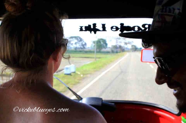 Driving a tuk tuk