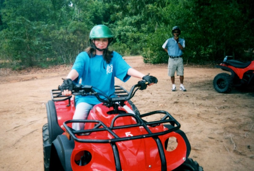 Already quad biking when I was a youngster in Phuket!