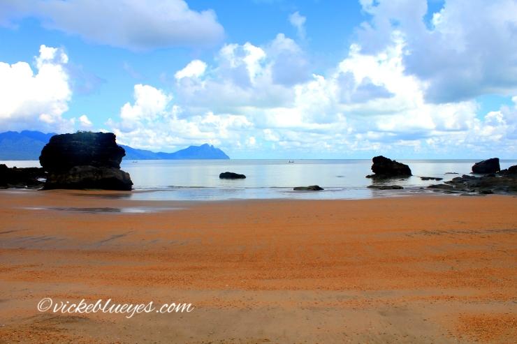 The beach on Bako