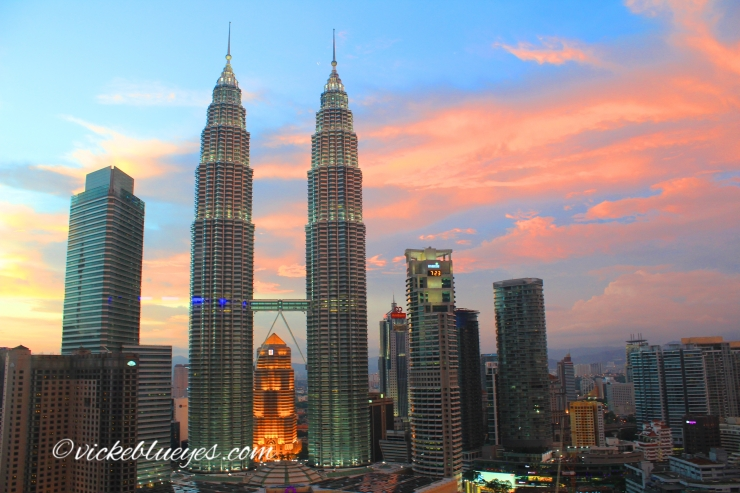 Sunset over Petronas Towers