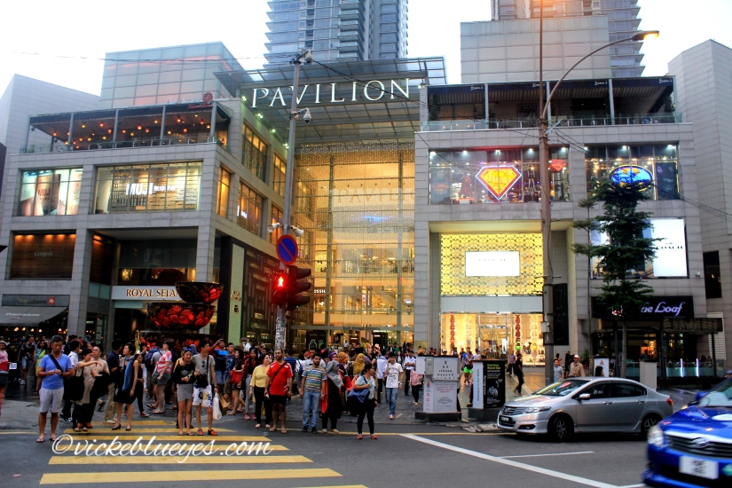 One of the shopping malls in KL
