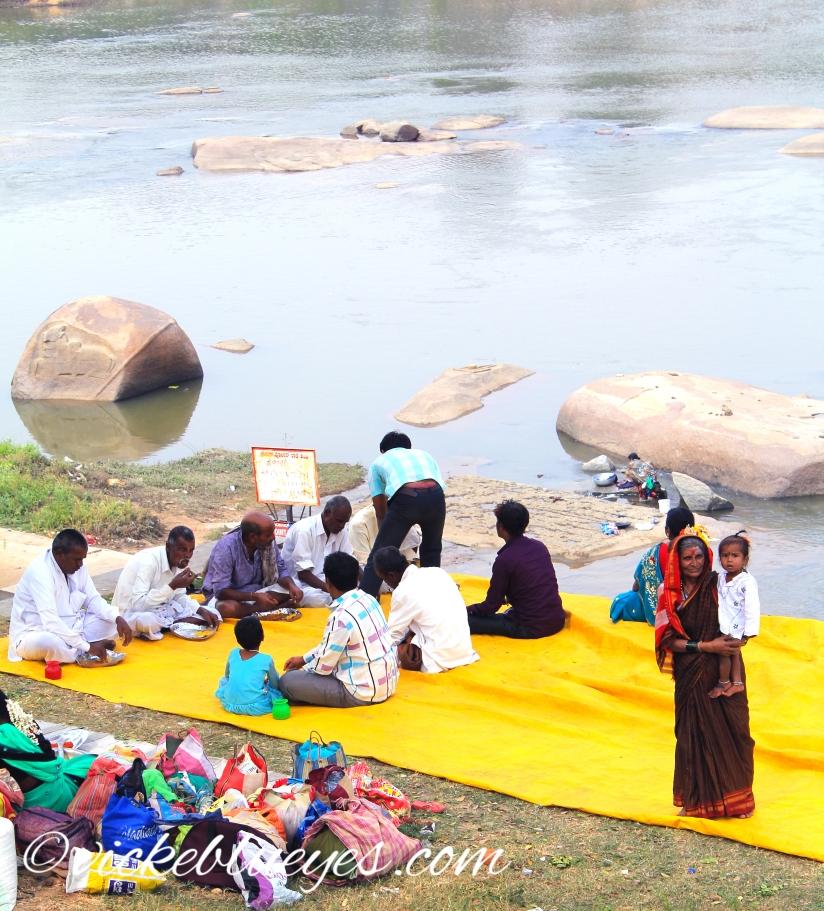 A celebration by the river