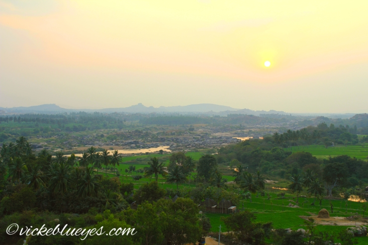 Sunset over Hampi