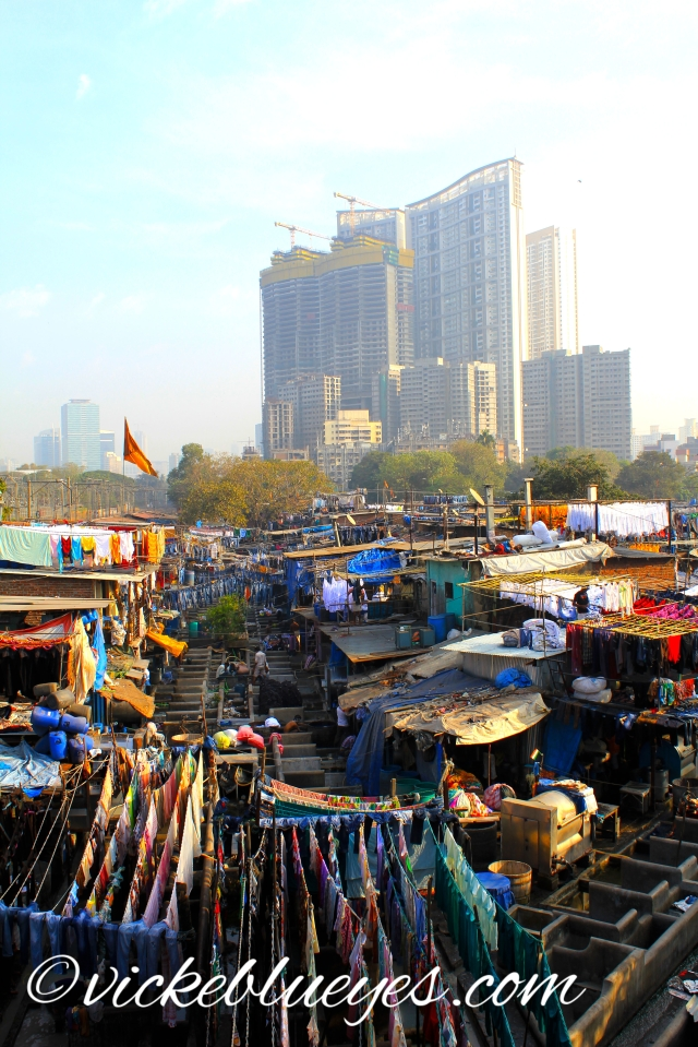 Dhobi Ghat with Skyscrapers