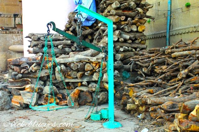 Weighing Wood