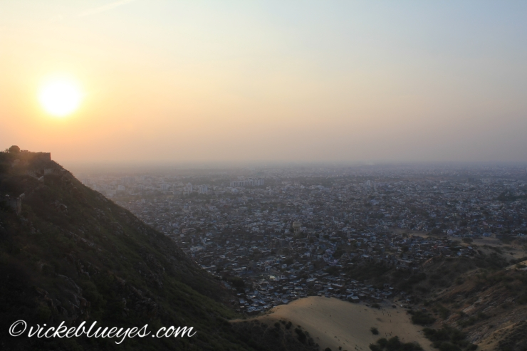 Sunset over Jaipur