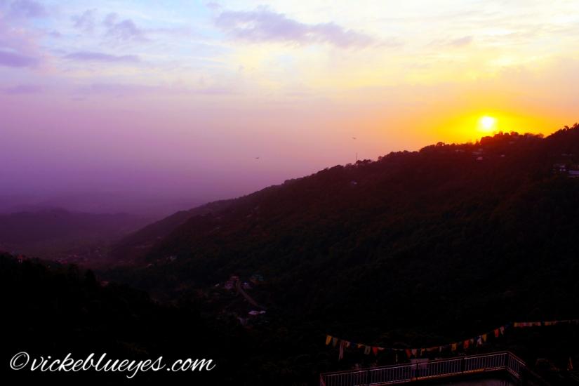 sunset in Mcleod Ganj