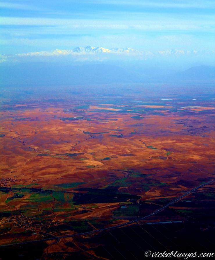 Flying over Marrakesh