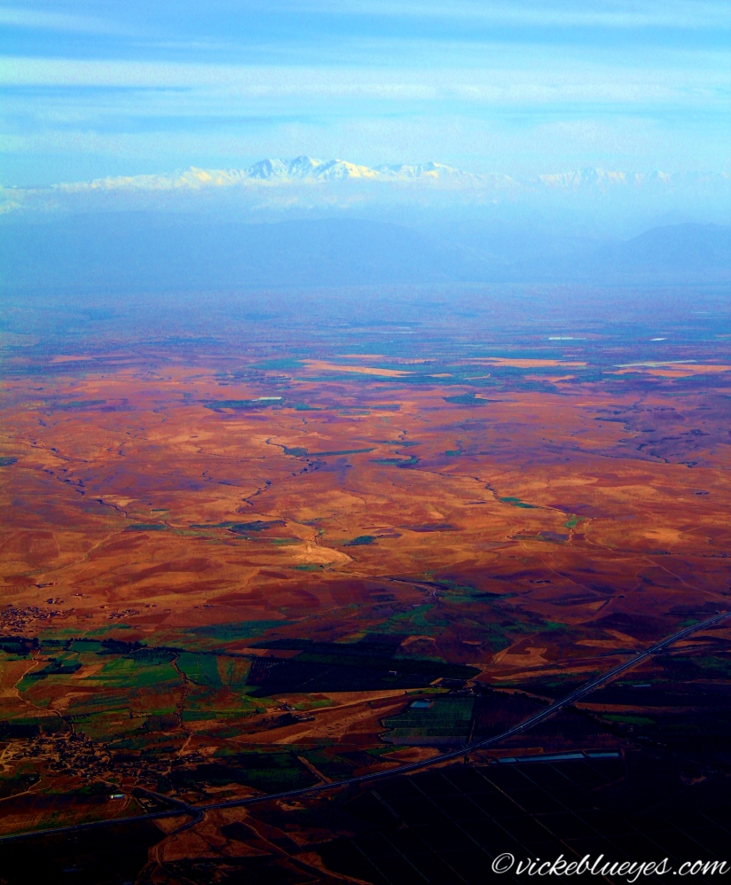 Flying over Marrakesh