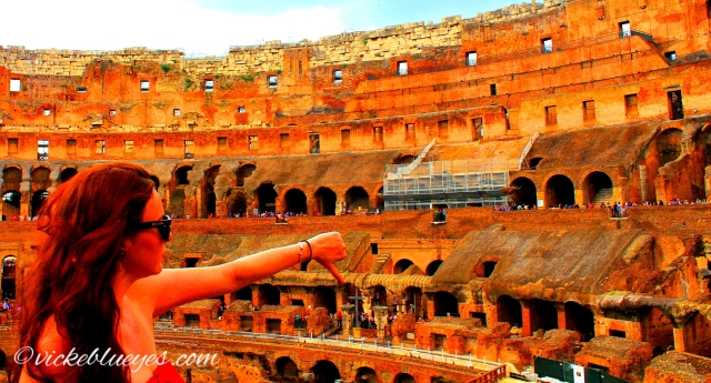 Acting like an Emperor in the Colosseum
