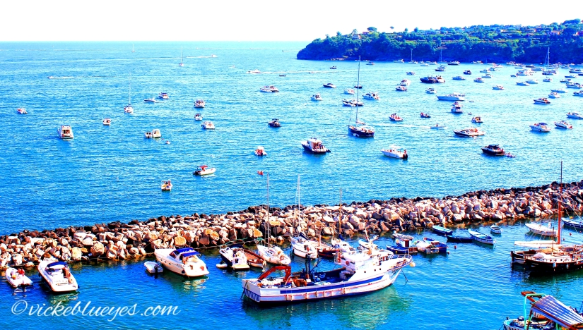 View from top of Procida